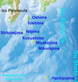 Map of Izu Seven Islands - Izu Shichito