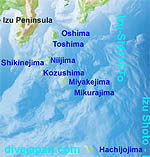 Map of Izu Seven Islands - Izu-shichi-to